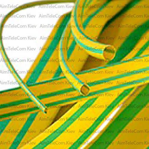 Купить Трубка термоусадочная, 6.0/2.0мм, жёлто-зелёная, 1м