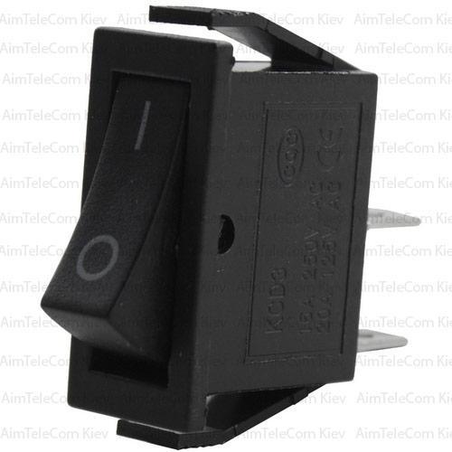 Купить Переключатель узкий KCD3-006 ON-OFF, 2pin, 220V, чёрный