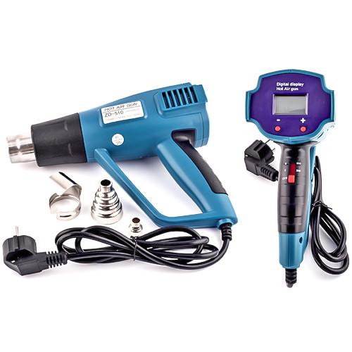 Купить ZD-510 термофен с дисплеем, два режима, 450/1500W, 650°C max 1500W
