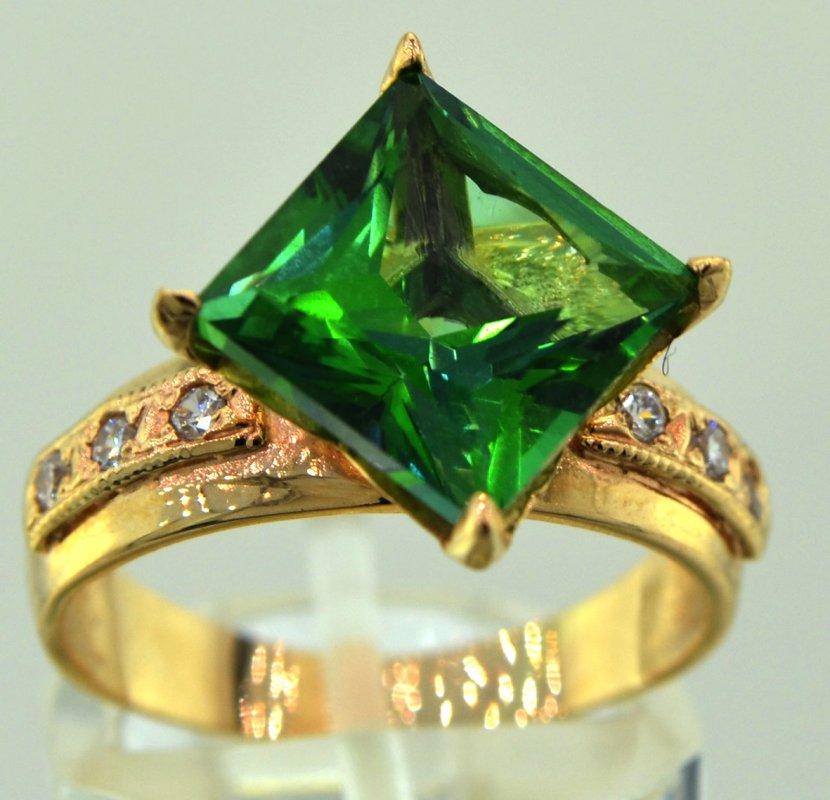 Купить Артикул 1285 кольцо+серьги кварц зеленый