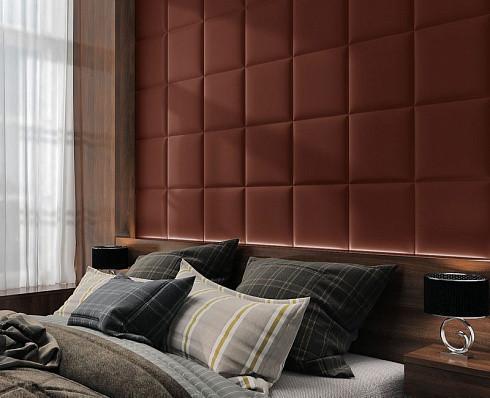 Купить Готовые дизайнерские решения.!!! Мягкая стеновая панель из экокожи SOFITEL. Размер 40х40 см. Любой цвет