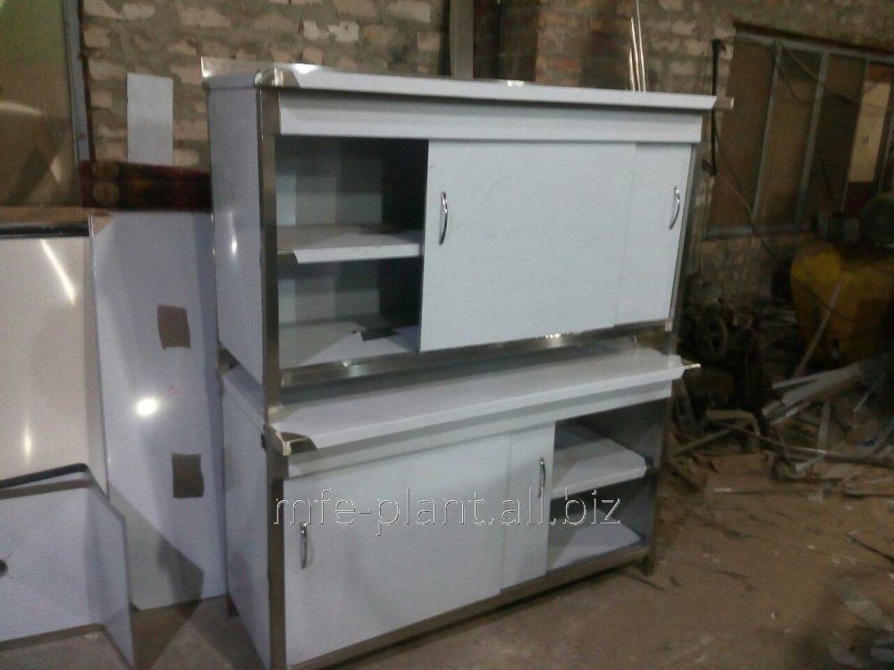Стол производственный с дверями-купе 2000х600х850 4 двери, из нержавеющей стали