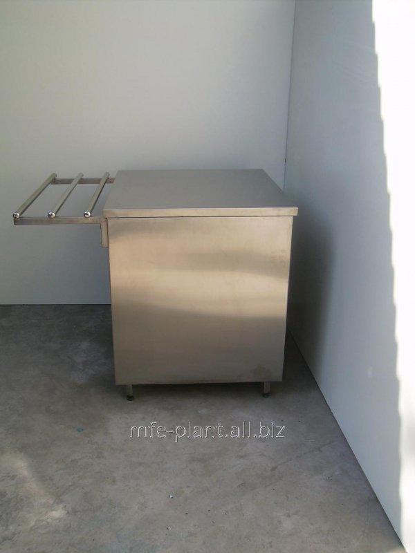 Прилавок нейтральный 600х700х1450 из нержавеющей стали