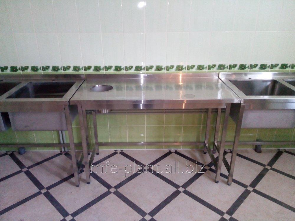 Стол производственный для сбора отходов 1100х600х850