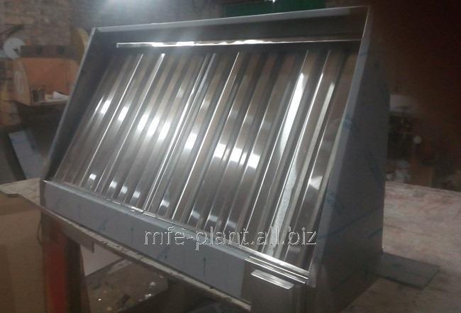 Зонт вытяжной 1100х1000х400, с жироуловителем