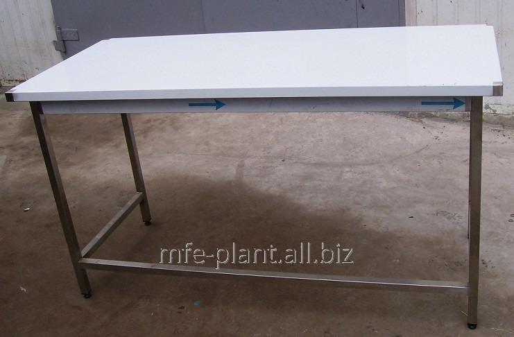 Стол производственный 2200х600х850 с бортом, из нержавеющей стали