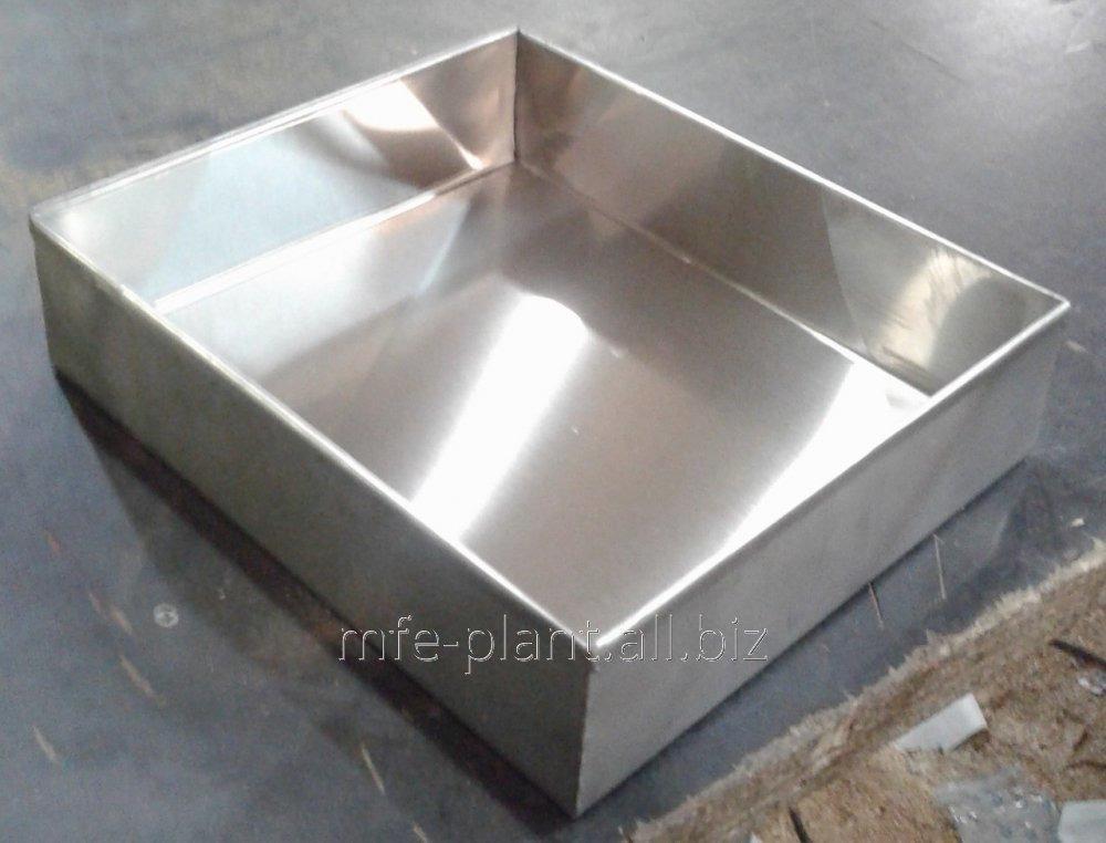 Противень 600х800х70, нержавеющая сталь AISI201, 0,8мм