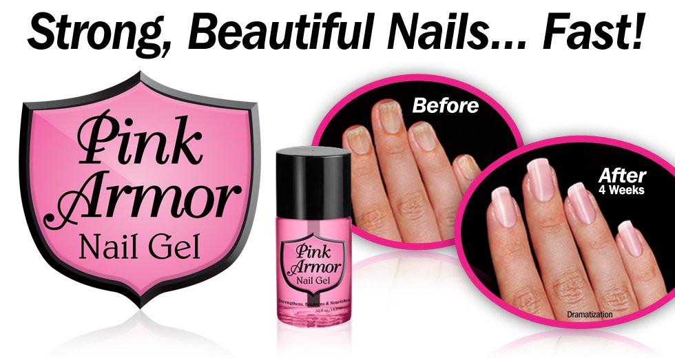 Купить Гель для укрепления и роста ногтей Pink Armor Nail Gel