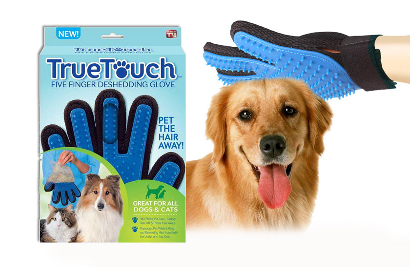 Купить Перчатка True Touch для вычесывания шерсти у животных