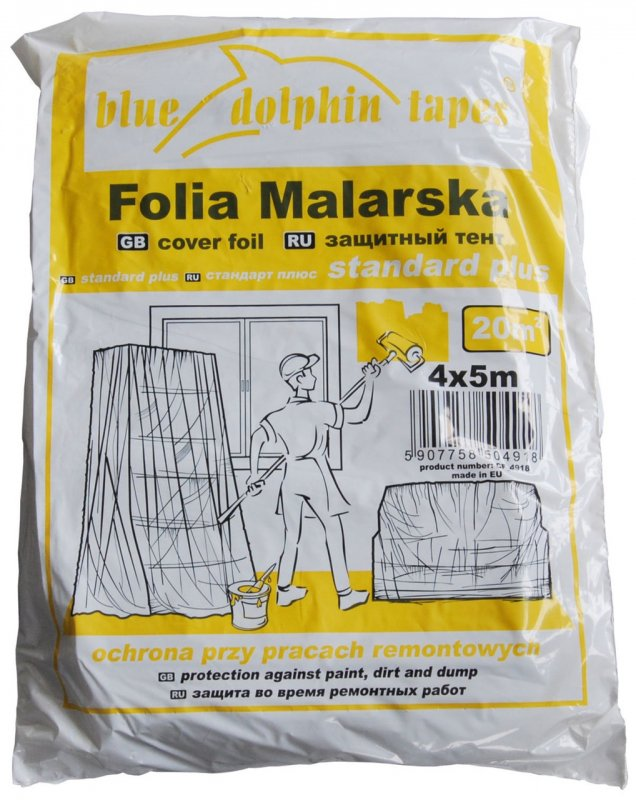 Купить Пленка укрывочная Dolphin 4*5м (12 мкр) 20706