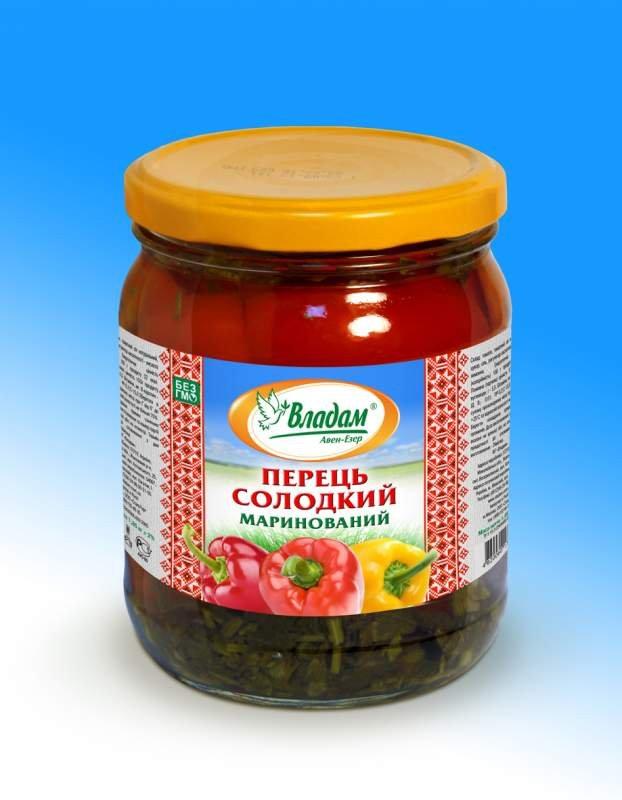 """Перец салатный маринованный ТМ """"Владам"""""""