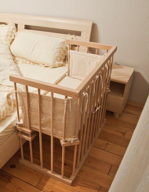 Кроватки приставные для новорожденных своими руками 88