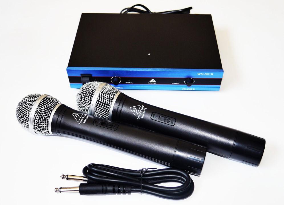 Купить Радиосистема Behringer WM-501R, база, 2 микрофона | радиомикрофон | беспроводной микрофон