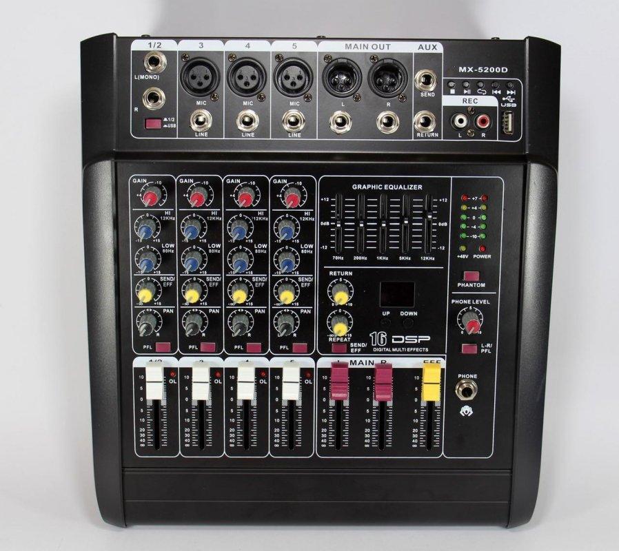 Купить Аудио микшер Mixer BT 5200D   Микшерный пульт   Усилитель звука