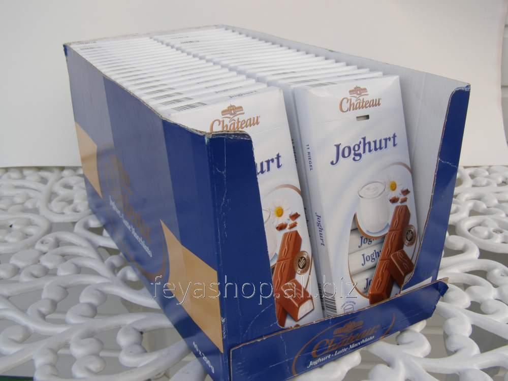 Шоколад Chateau порционный Joghurt