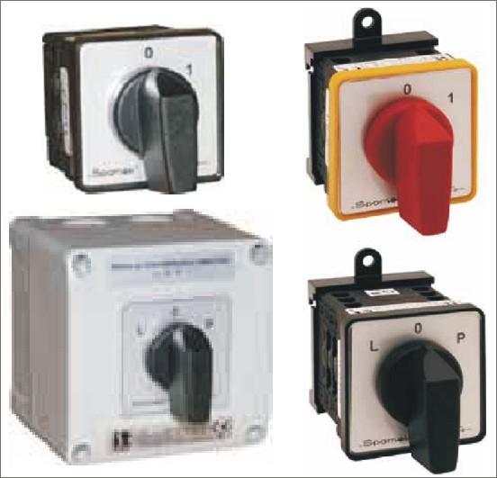 Пакетные кулачковые переключатели SK10, SK16, SK20, на токи от 10 до 20А.Спамел