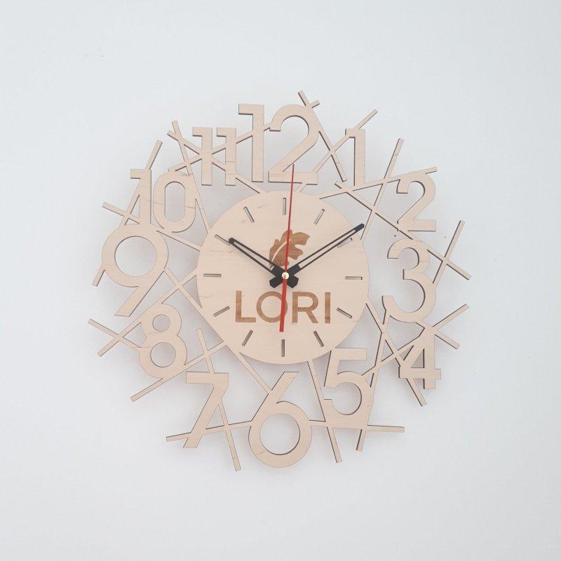 Купить Настенные деревянные часы с логотипом с бесшумным механизмом Настінний дерев'яний годинник з логотипом з безшумним механізмом