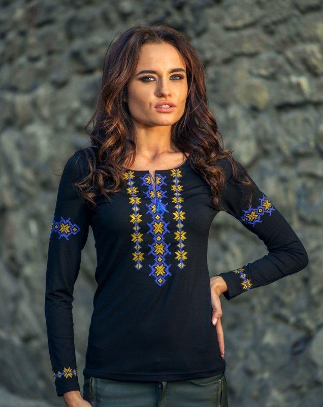 Жіноча вишита футболка - довгий рукав! Оптові ціни від виробника ... ee6dbc62b8fd8