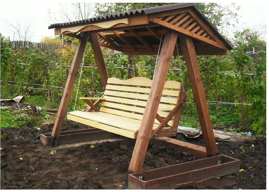 Как сделать деревянные качели