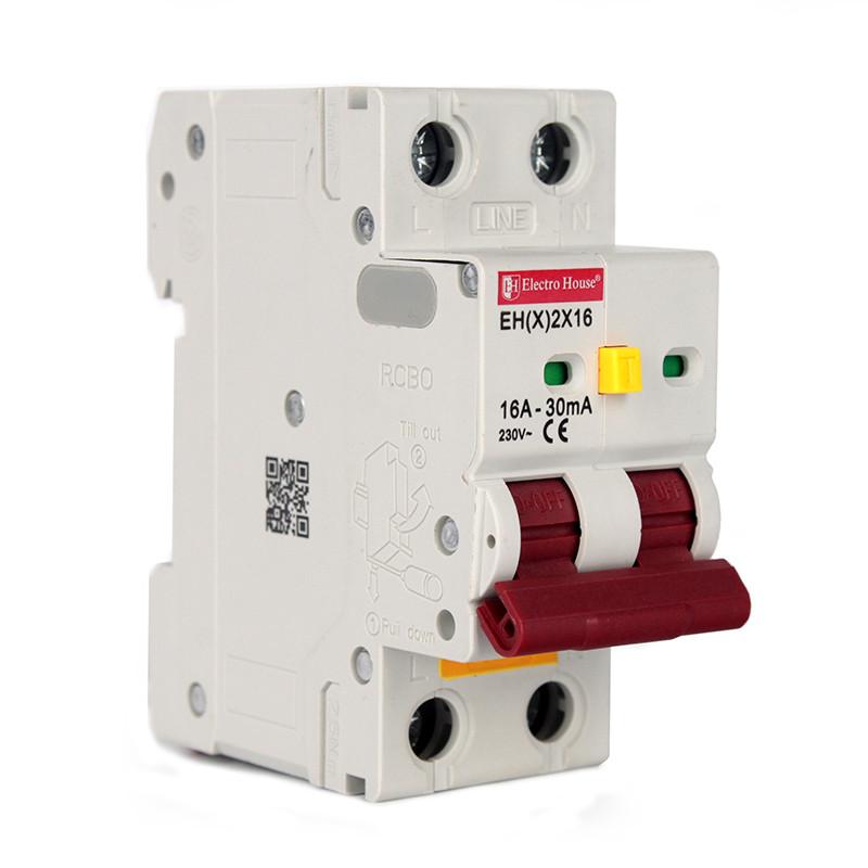 Купить ElectroHouse ДИФ Автомат 16А 1P+N 30mA 4,5kA 230-240V IP20
