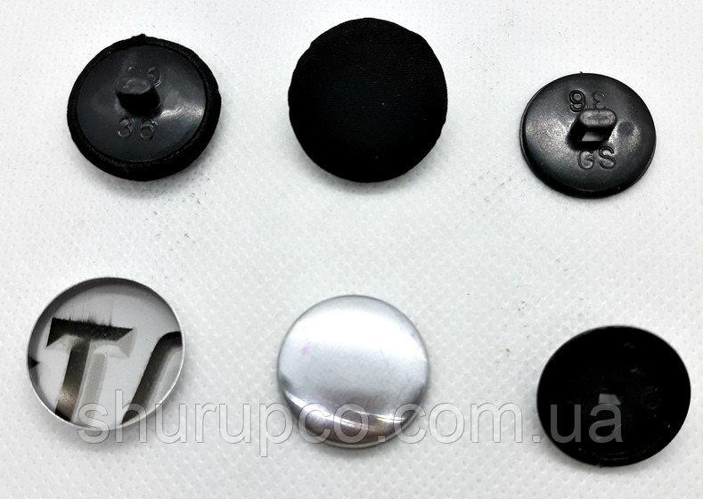 Купить Пуговица под обтяжку 22 мм №36 Черный