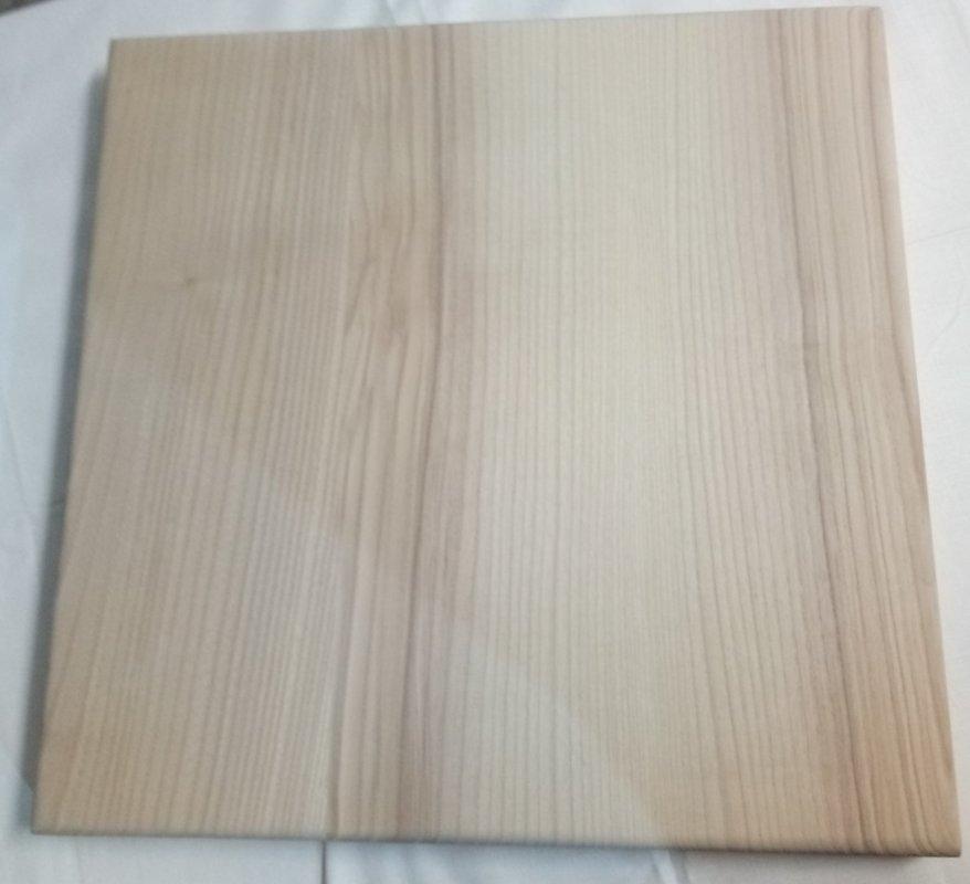 Купить Столешница 700х700х40 Лак из ясеня с покрытием ( 05LK0700YA070040 )