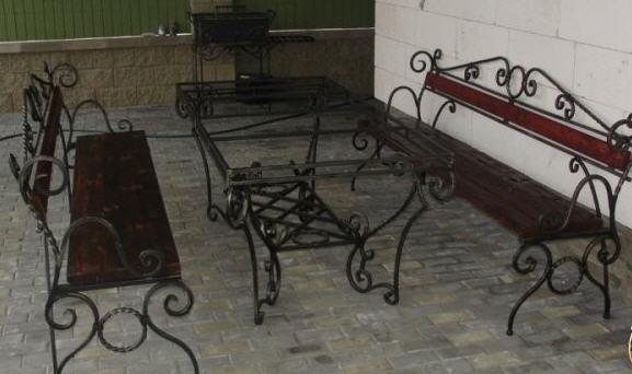 Купить Мебель кованая уличная