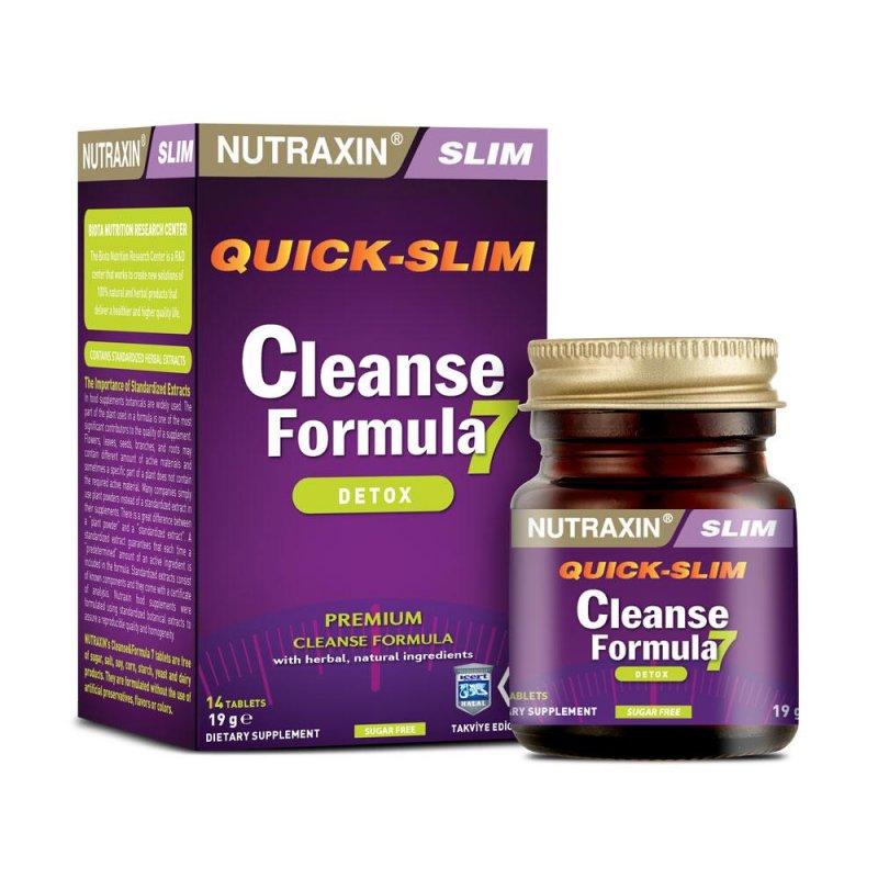 Купить Натуральный препарат CLEANSE FORMULA NUTRAXIN для похудения и очистки организма, 14 таблеток