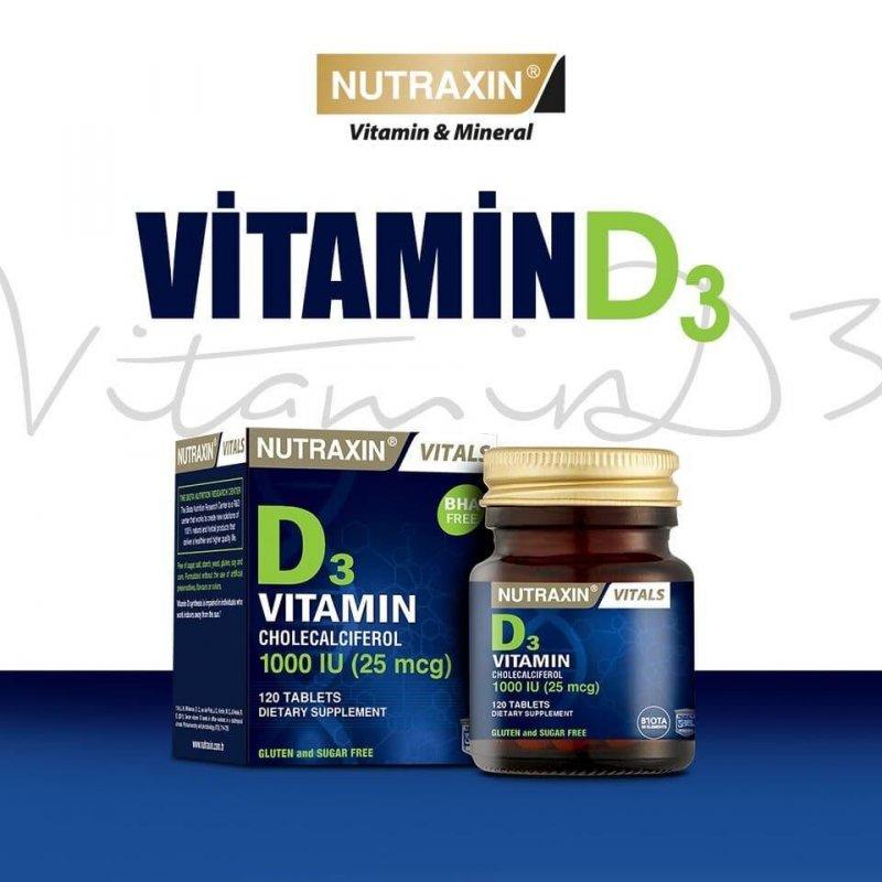 Витамин D3 NUTRAXIN Витамин радости, 120 таблеток