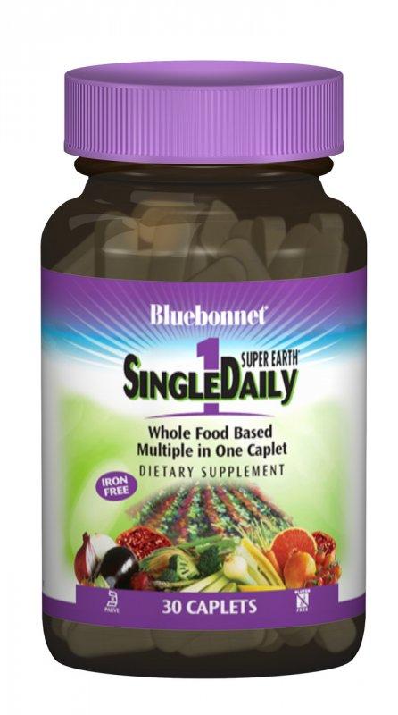 Купить Мультивитамины без железа, Single Daily, Bluebonnet Nutrition, 30 капсул