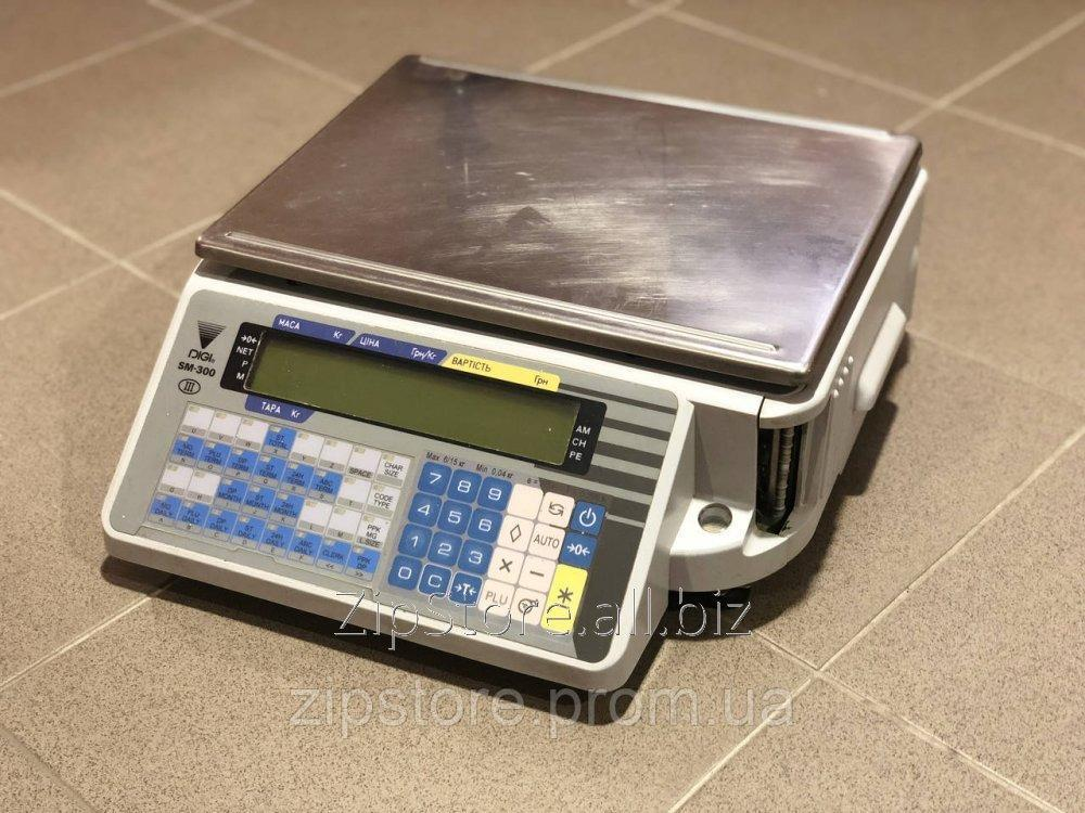 Купить Весы с чекопечатью DIGI SM-300B (без стойки) 15кг.