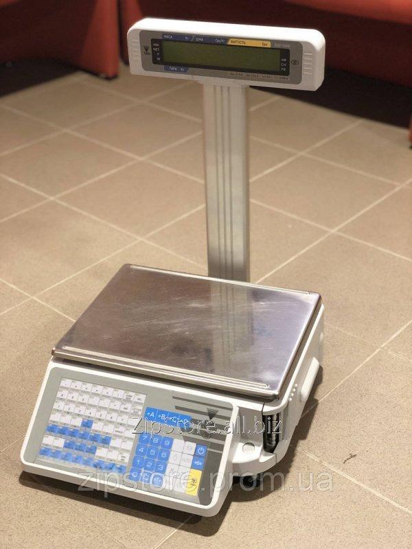 Купить Весы с чекопечатью DIGI SM-300P 15кг. (со стойкой)