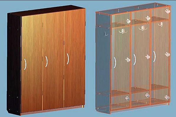 Шкафчики для детских садов, школ