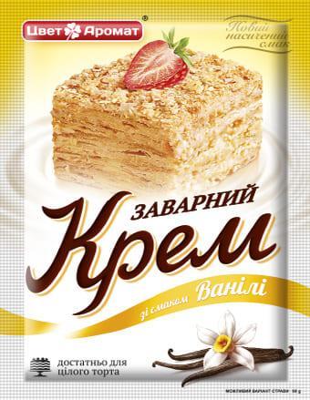 Buy Custard cream with vanilla flavor, 90 g