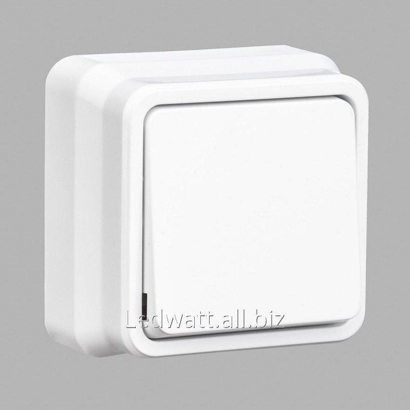Купить Misya выключатель 1-ый наружный белый