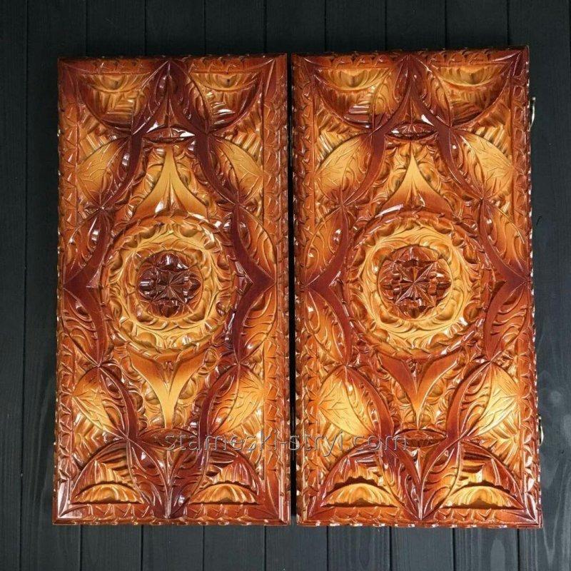 Нарды ручной работы, эксклюзивная резьба по дереву, арт. Н-002