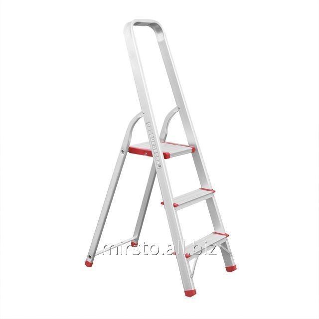 Купить Стремянка алюминиевая 3 ступени, высота до платформы 630 мм INTERTOOL LT-1003