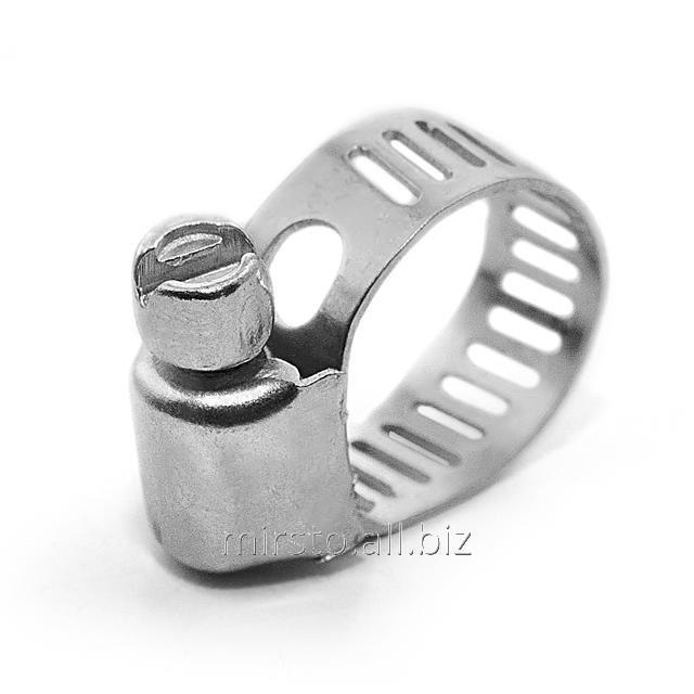 Купить Хомут стальной оцинкованный 8 мм D 6-16 мм (упаковка 10 шт) INTERTOOL TC-0006