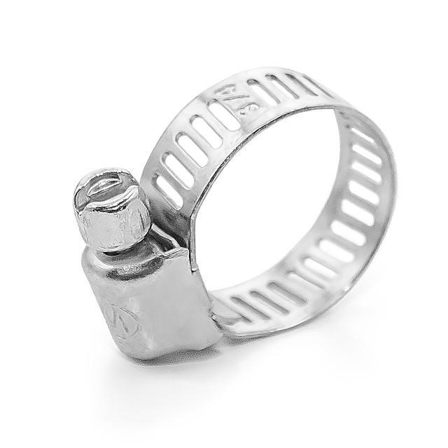 Купить Хомут стальной оцинкованный 8 мм D 11-20 мм (упаковка 10 шт) INTERTOOL TC-0011