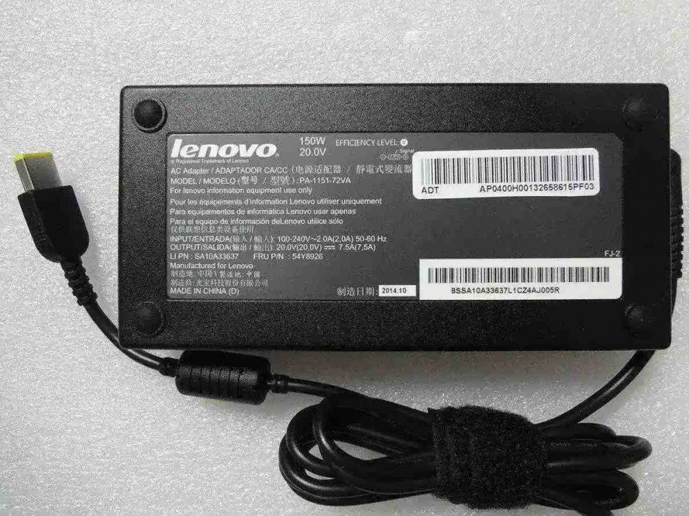 Зарядное устройство для ноутбука Lenovo PA-1151-72VA 20V 7.5A 150W (square) Оригинал