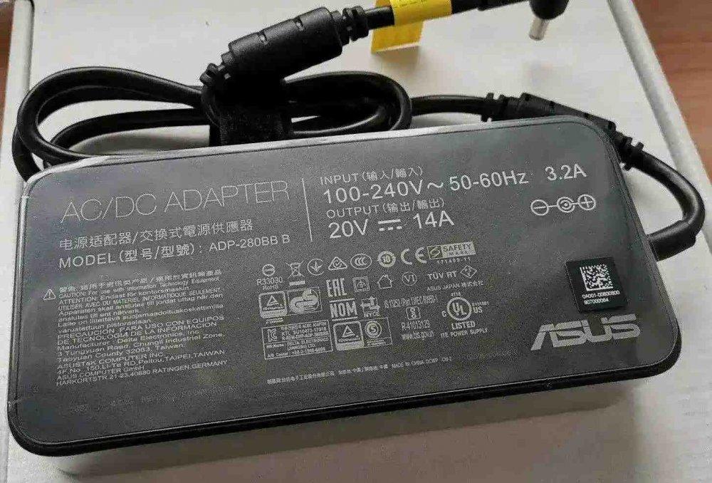 Блок питания для ноутбука Asus ASUS ROG Strix ADP-280BB B 20V 14A 280W 6.0*3.7 с иглой Оригинал