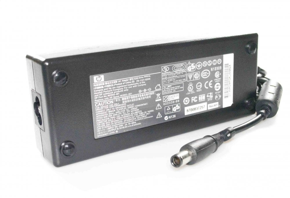 Блок питания для ноутбука HP dv7 18.5V 6.5A 120W (7.4*5.0 с иглой) Копия