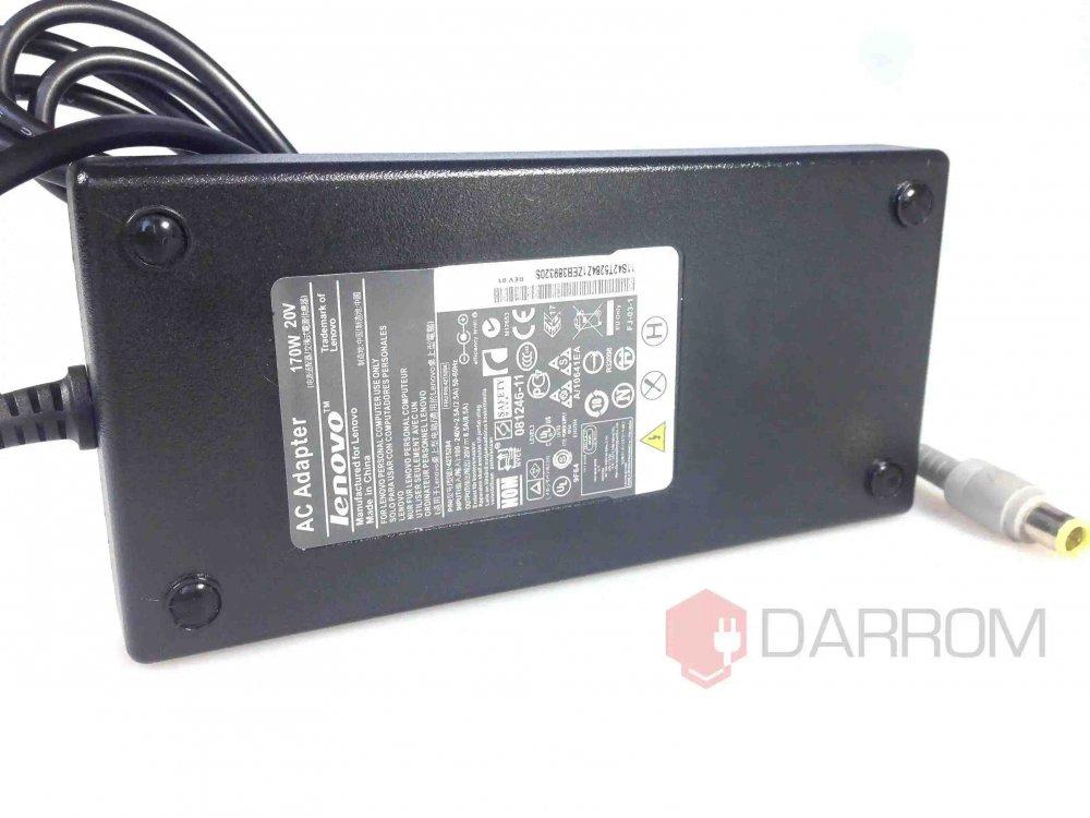 Блок питания для ноутбука Lenovo ThinkPad W700 42T5284 20V 8.5A 170W (7.9*5.5 с иглой) Копия