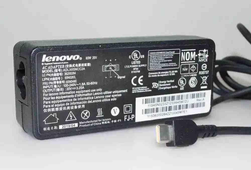 Блок питания для ноутбука Lenovo Yoga S940 20V 3.25A 65W type-c Копия