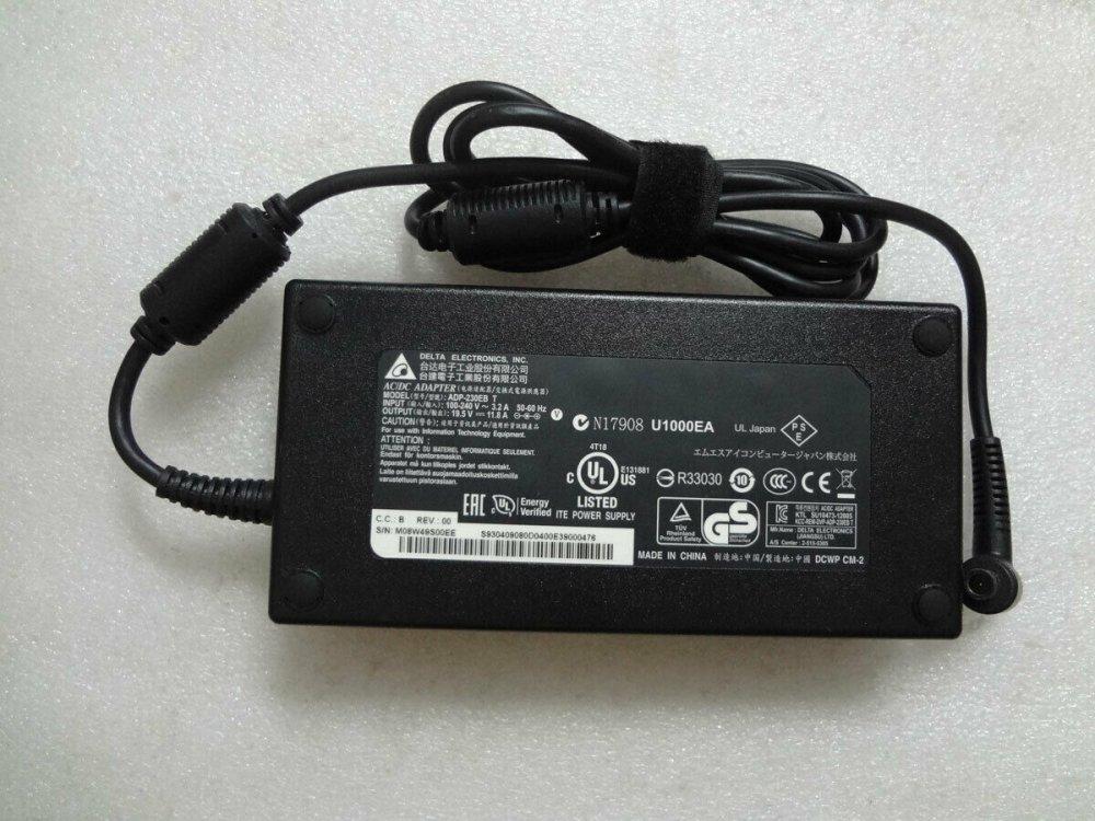 Блок питания MSI GT72VR 6RE 19.5V 11.8A 230W (7.4*5.0 c иглой) Оригинал