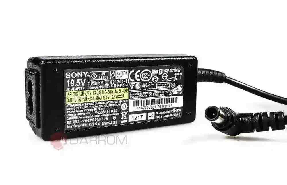 Блок питания Sony VAIO SVT13112FXS Ultrabook VGP-AC19V57 19.5V 2A 40W (6.0*4.4 с иглой) Копия