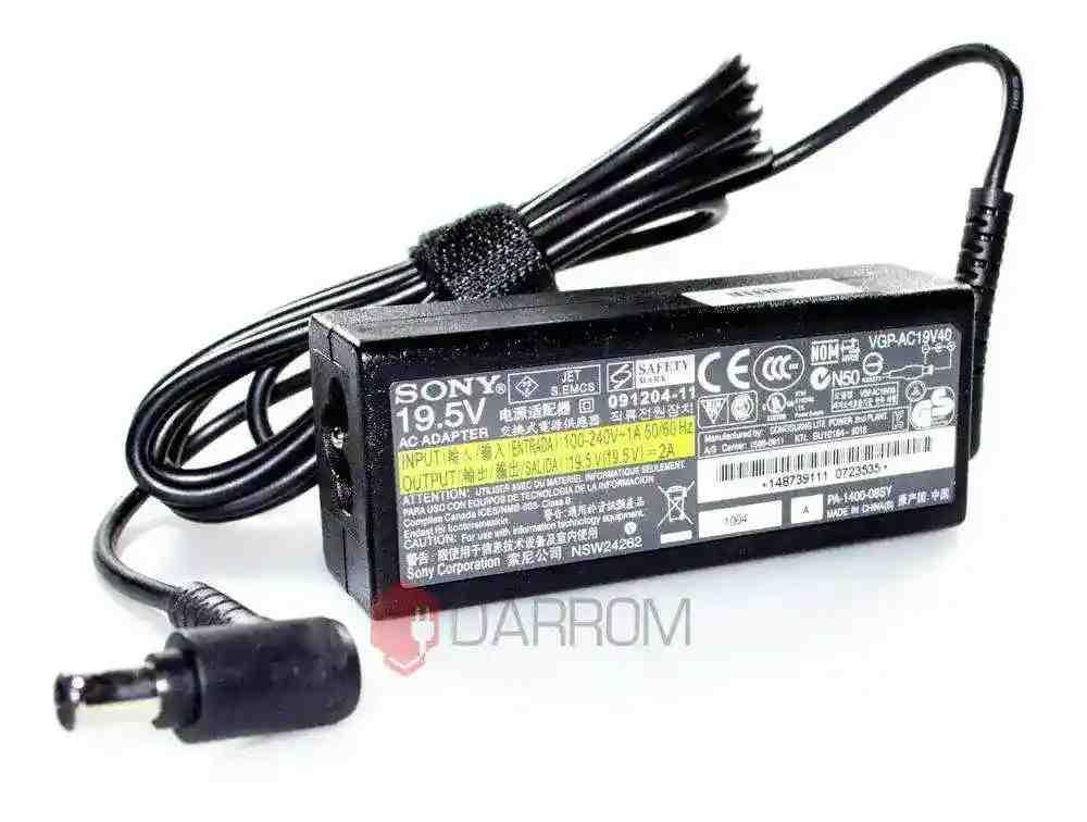 Блок питания Sony VGP-AC19V40 19.5V 2A 40W 6.0/4.4 с иглой Оригинал