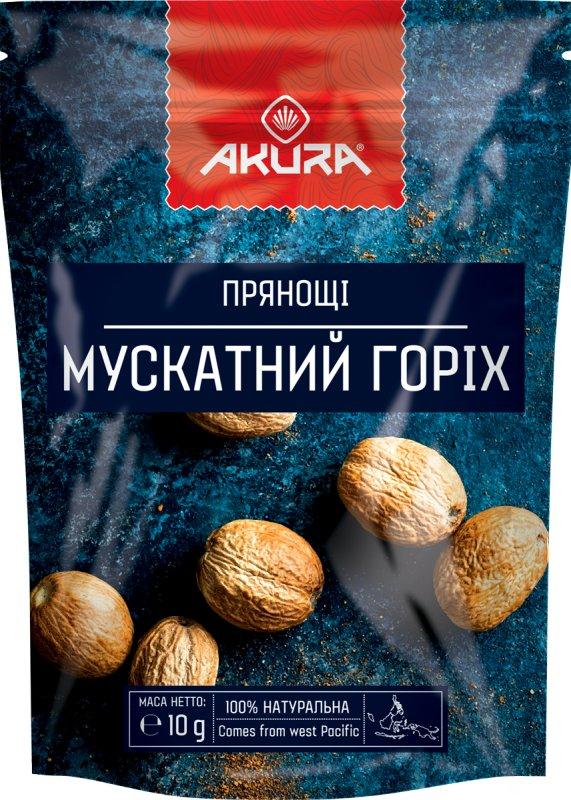 """Купить Специи """"Мускатный орех"""" (целый) ТМ """"AKURA"""""""