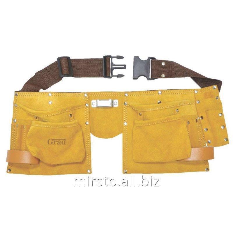 Купить Пояс слесарный (кожаный) 11 карманов GRAD (9450765)