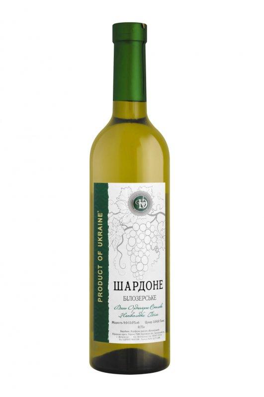 """Вино """"Шардоне Белозерское"""" полусладкое белое 0,75 л."""
